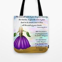 Flower girl from heaven - Deuteronomy 28, 12 Tote Bag