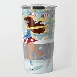 Ice Skating Girl Travel Mug