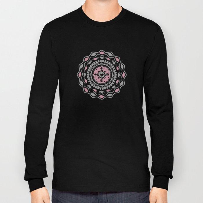 Heart Mandala – Pink Long Sleeve T-shirt