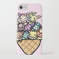 eevee iPhone & iPod Cases featuring Eevee Ice Cream by Mayying
