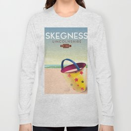 Skegness lincolnshire beach travel poster. Long Sleeve T-shirt