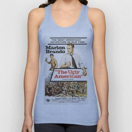 Vintage Classic Movie Posters, The Ugly American Unisex Tank Top