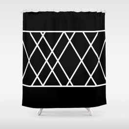 Ten X Five - Black and White Abstract Art Shower Curtain