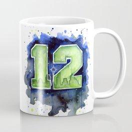 Seattle 12th Man Art Coffee Mug