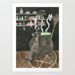 Witches Kitchen Art Print