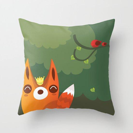 Kingfox Throw Pillow