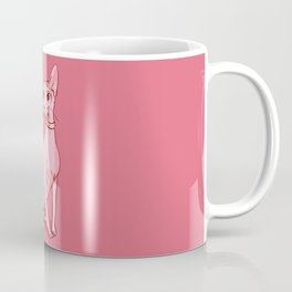 Nude Cat - Hairless Sphynx Kitty Wearing a Collar - Elegant - Wrinkles - Pink Coffee Mug