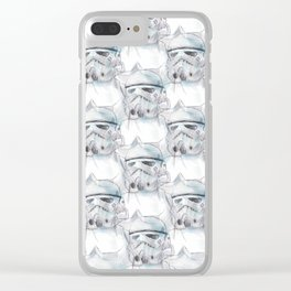 Storm Trooper Pattern Clear iPhone Case