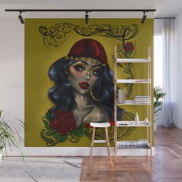Gypsy tattoo art (color version) Wall Mural