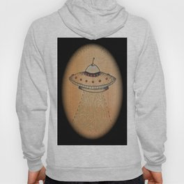 Spaceship with Oval Border Hoody
