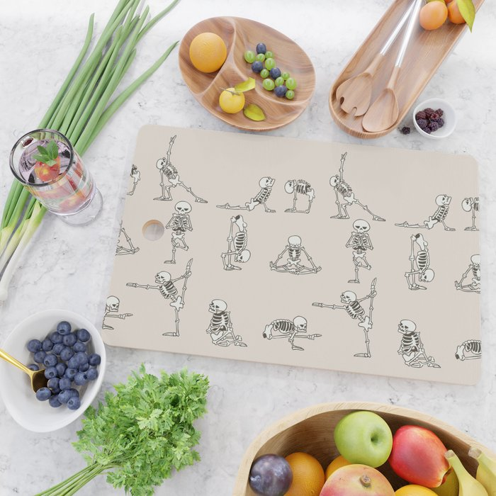 Skeleton Yoga Cutting Board