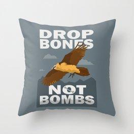 Lammergeier: Bones Not Bombs Throw Pillow