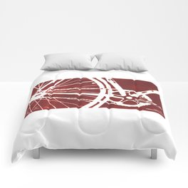 Dark Red Bike Comforters