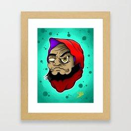 Daruma Head Framed Art Print