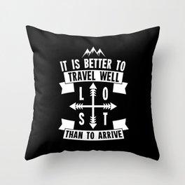 Travel Well Throw Pillow