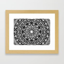 Inverted I See You Mandala Framed Art Print
