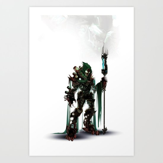 One Evil Bot Art Print