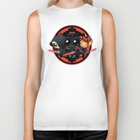 dark side Biker Tanks featuring Dark Side by Dooomcat