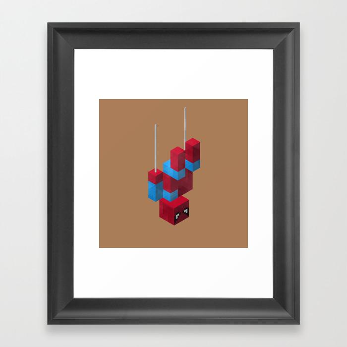 Sensational Spider Man Framed Art Print by Joshbelden FRM932876