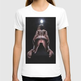 8467-LP Heaven's Gate Fit Young Woman on Her Knees Exposes the Path to Life T-shirt