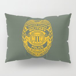 U.S. Military Police Veteran Security Force Badge, Gold Pillow Sham
