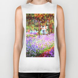 Monets Garden in Giverny Biker Tank