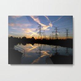 Pond Sunrise Metal Print