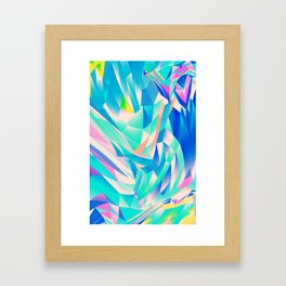 3D Waves Framed Art Print