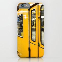 Berlin tube I U-Bahn I Vintage I Yellow colors I Fine art I Photography iPhone Case