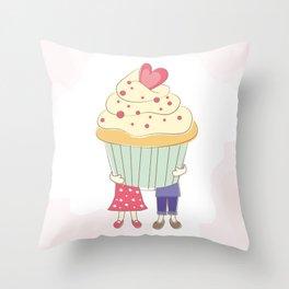 I Cupcake You. Throw Pillow