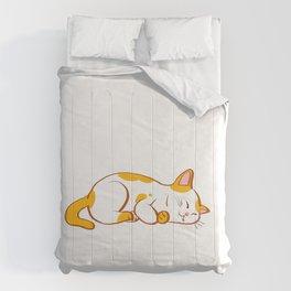 I'M NOT LAZY I'M JUST IN QUARANTINE t shirt cat custom T-Shirt Comforters