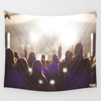 concert Wall Tapestries featuring Concert by LaiaDivolsPhotography