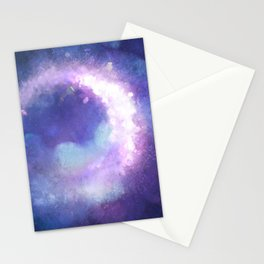 Moonglow Abstract Painting Stationery Cards