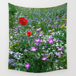 Wild Flower Meadow Wall Tapestry