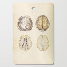 Vintage Illustration of Human Brain Cutting Board