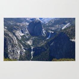 Vernal Falls And Nevada Falls Rug