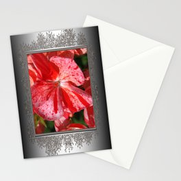 Zonal Geranium named Mosaic Red Stationery Cards