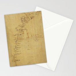 Map of Georgia 1780 Stationery Cards