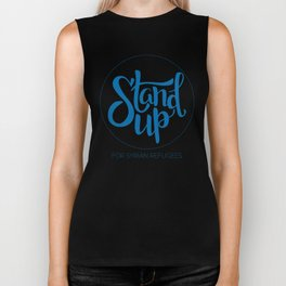 Stand Up: For Syrian Refugees (All proceeds to UN Refugee Agency) Biker Tank