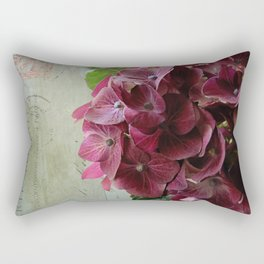 carte hydrangea Rectangular Pillow