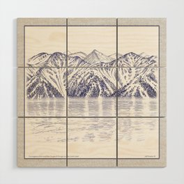 TURNAGAIN ARM AND THE CHUGACH RANGE ON THE COOK INLET ALASKA Wood Wall Art