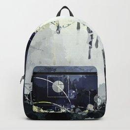 Modern Indigo Eclipse Abstract Design Backpack