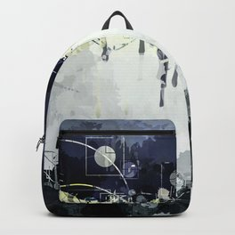 Modern Indigo Eclipse Abstract Design Backpack
