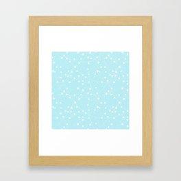 Merry Christmas- Teal Festive Stars X-Mas Pattern Framed Art Print