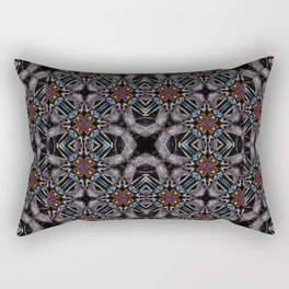 Chic Fractal Ornate Print Pattern Rectangular Pillow