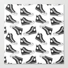 shoes, gumshoes seamless background Canvas Print