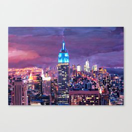 Empire State Building Feeling Like A Blue Giant Canvas Print