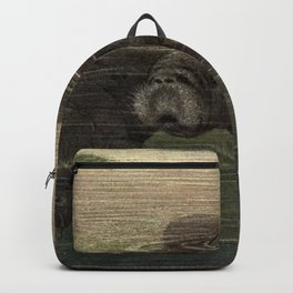 Vintage Manatee Painting (1909) Backpack