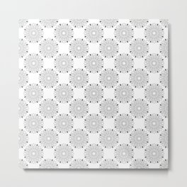 Kitchen cutlery outlined circles Metal Print