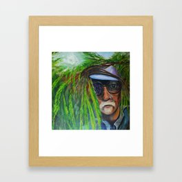 Hiding Juan Framed Art Print